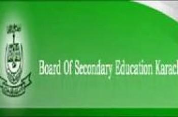 Karachi Matric Private Exams 2012