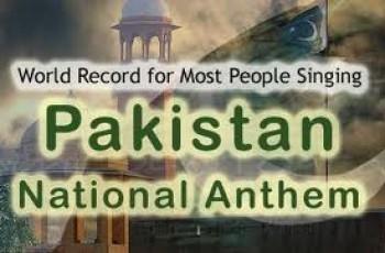 National anthem world record Pakistan
