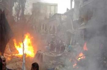 attacks in Halfaya city of syria