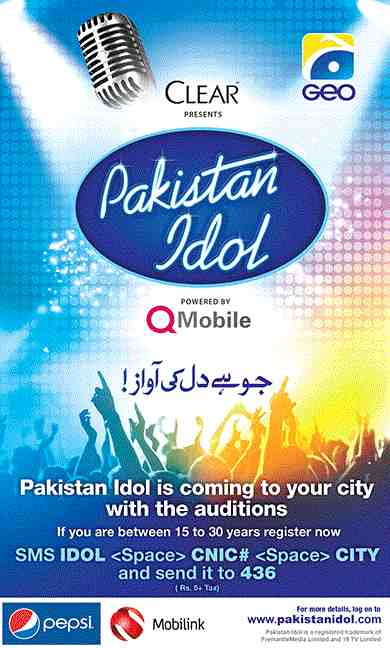 Pakistan Idol To Air From Geo TV – Audition Registration Starts