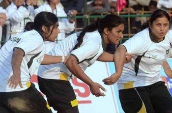 Pakistani Women Kabaddi players