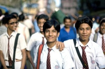 students on road