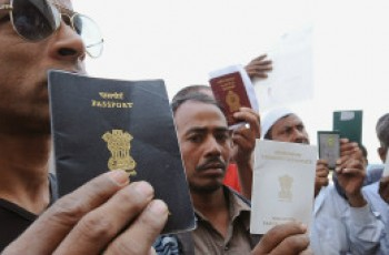 immigrants with passports