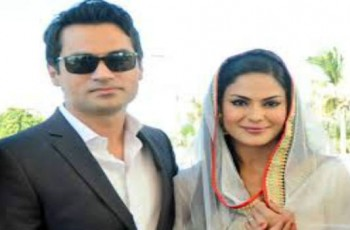 Veena Malik and her husband Asad Bashir