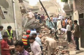 roof collapse incident Lahore