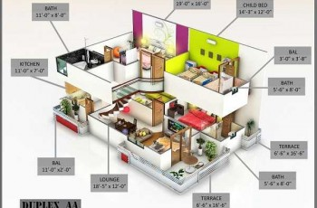 duplex apartment plan