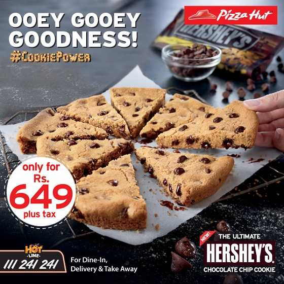 Pizza Hut Introduces Chocolate Chip Cookie Price Rs 649