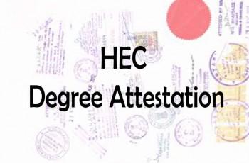 HEC degree attestation