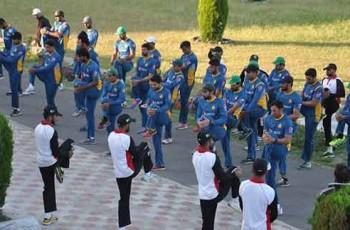 pakistan cricket team in camp