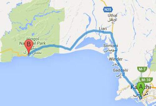 Kund Malir Map