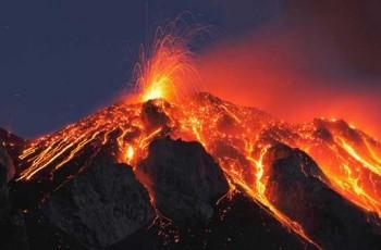 mountain lava