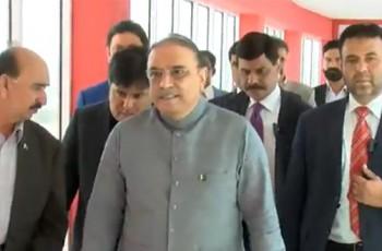 Asif Ali Zardari in Bol Network