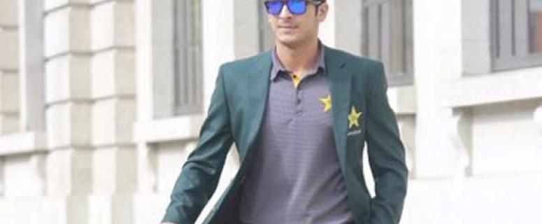 Pakistani cricketer Mir Hamza