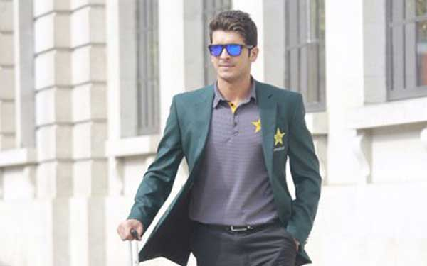 Pakistani cricketer Mir Hamza