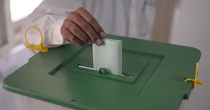 man casting vote