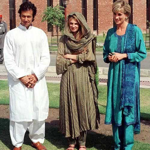 lady diana, imrna khan and jemima khan
