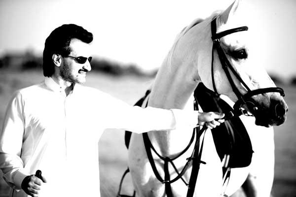 waleed bin talal with horse