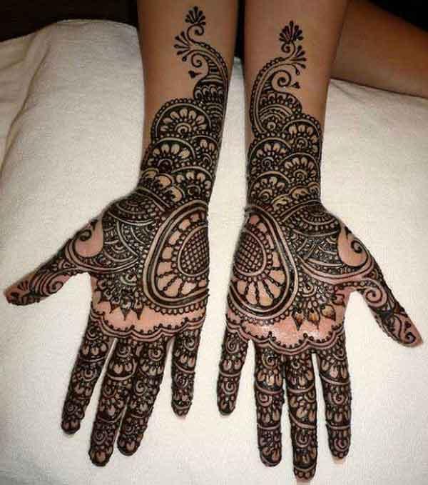 complete hand mehndi pattern