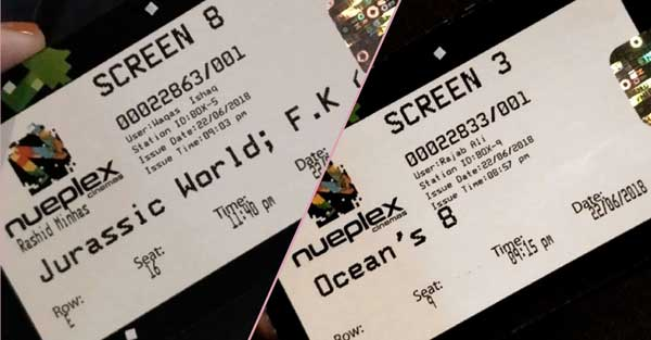 tickets of cinema