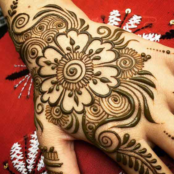 pakistani flower mehndi design