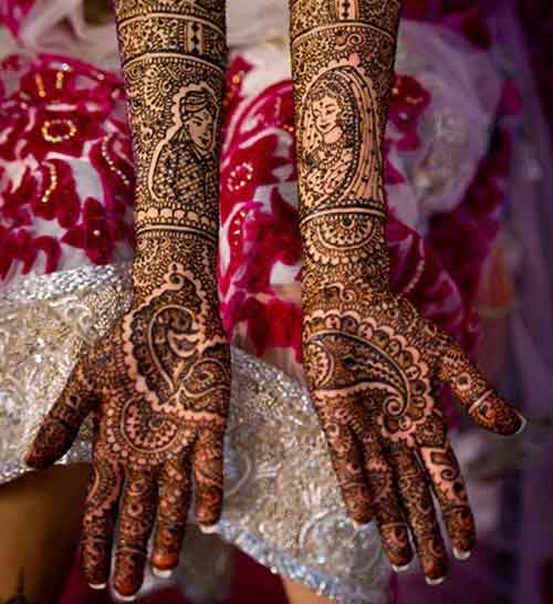 indian dulhan mehndi