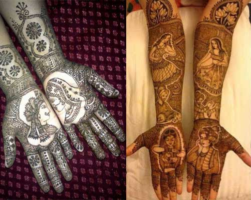 mehendi with figures
