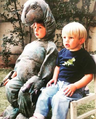 childhood photo of Qasim & Sulaiman