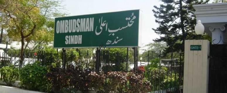Ombudsman sindh office