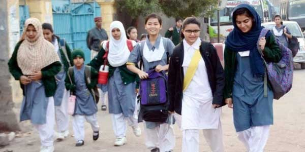 students going to their school