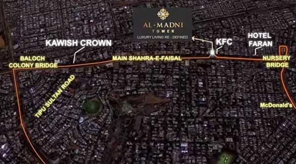 Al-Madni Tower Map