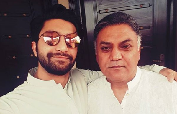 ahad raza mir with his father asif raza mir