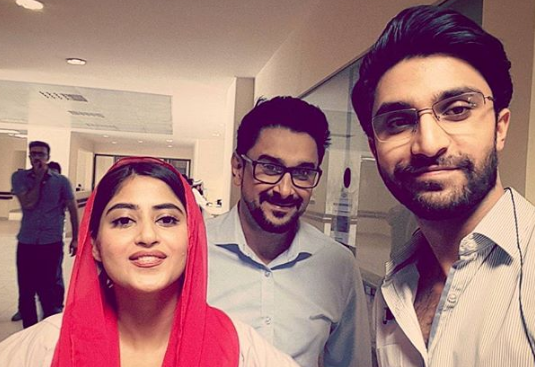ahad raza mir with sajal aly and mani