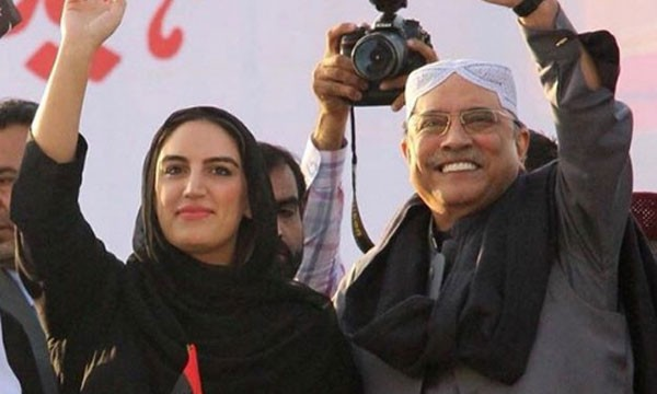 bakhtawar bhutto with her father