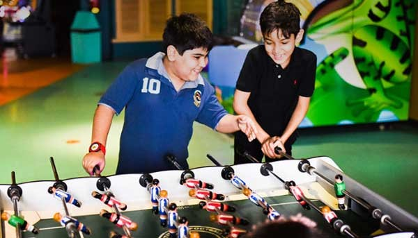 kids playing indoor games