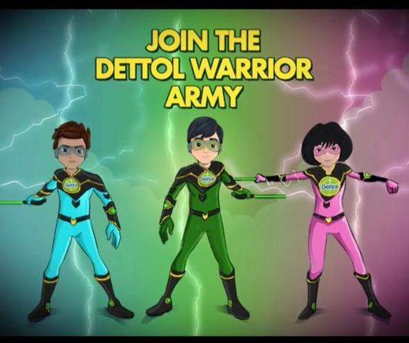 Dettol Warrior Education army kids