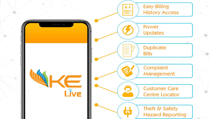 KE LIVE mobile application