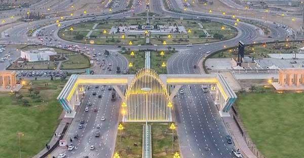 Bahria town karachi aerial