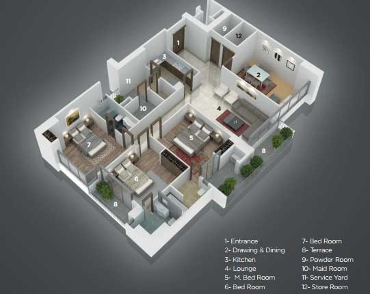 Grove residency apartment layout