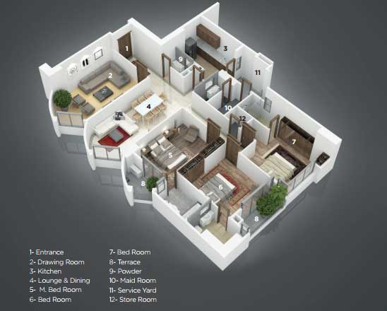 Grove residency layout