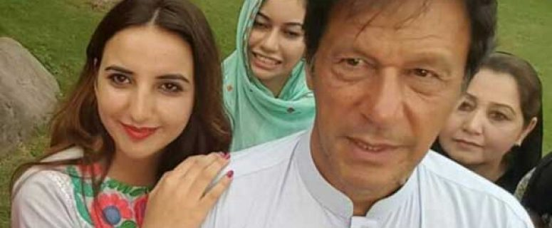 Hareem Shah with Prime Minister