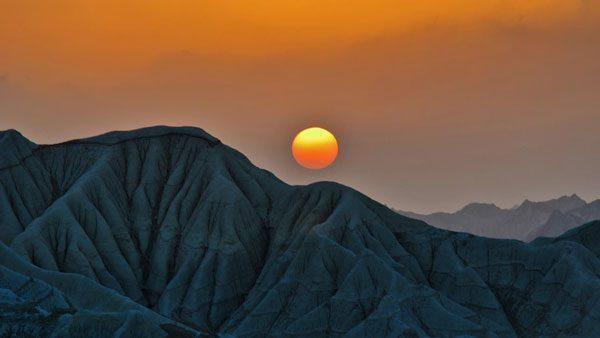 sunset astola island