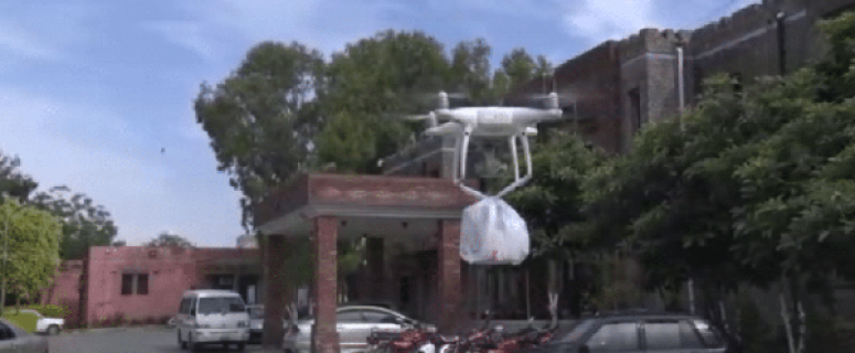 Drones in DHQ Hospital, Haripur